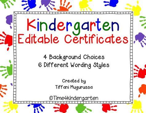 preschool certificate templates kindergarten completion certificates