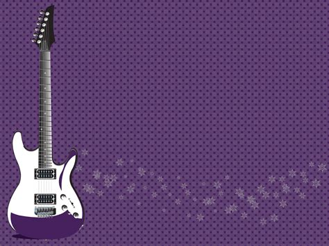 rock guitar powerpoint templates fuchsia magenta
