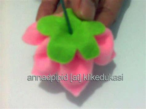 tutorial pembuatan bunga flanel tutorial kreasi bunga dari kain flanel klikedukasi