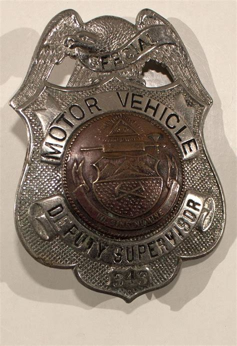 motor vehicle badges special motor vehicle badge 348
