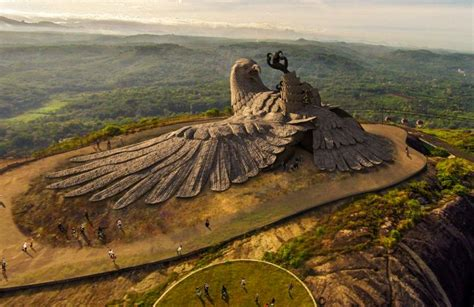 largest in the world world s largest bird sculpture in india s jatayu nature park mycoolbin