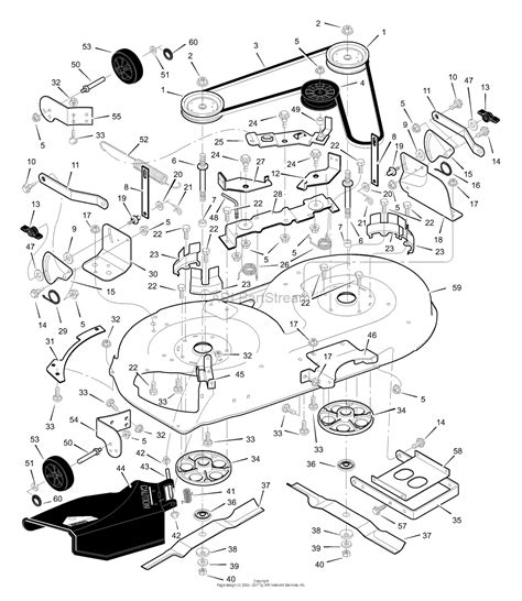 murray xa lawn tractor  parts diagram  mower housing