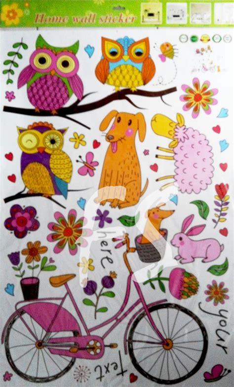 Wallsticker 60x90 Wallstiker Transparan Cc6965 Owl Frame jual sticker dinding transparan stiker dinding murah