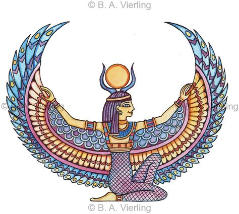isis egyptian goddess tattoo artist gallery blue light