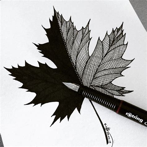 maple leaf art on instagram