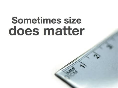 what does matter do sometimes size does matter
