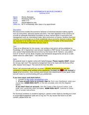 Econ 1b03 Course Outline by 101syllabus Economics 101 003 Principles Of Microeconomics Fall 2010 Name Shomu Banerjee