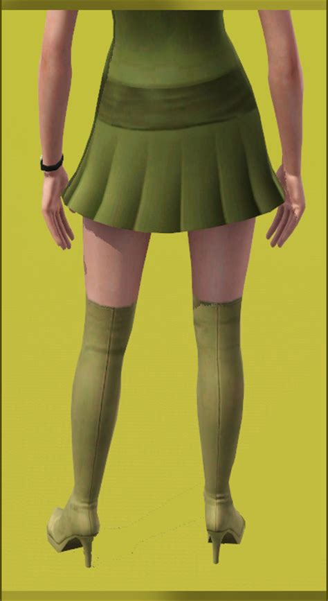 mod the sims thigh high boots half zipped