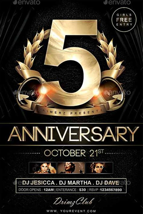 anniversary flyer template free best of anniversary flyer templates free and premium