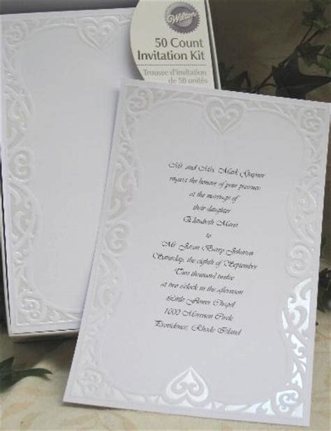wedding invitation wording wilton wedding invitation kit