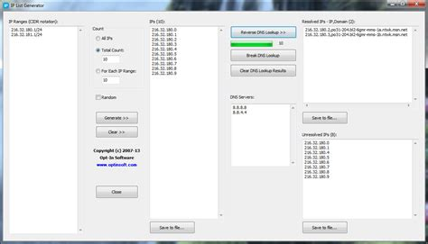 ip list generator 2 5 free freewarefiles