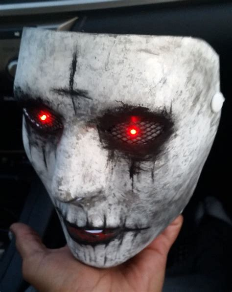 light mask the purge anarchy custom painted mask with light up