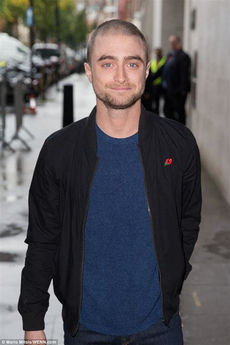 does a buzz cut look good with an oval face shape for men daniel radcliffe channels lord voldemort as he steps out