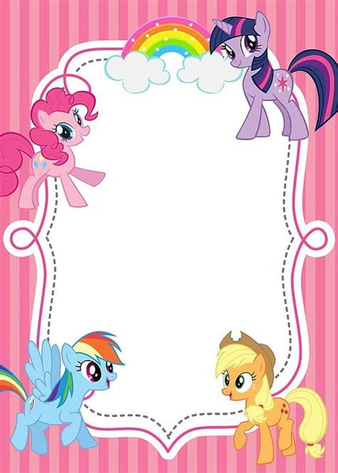 my little pony free printable invitation templates