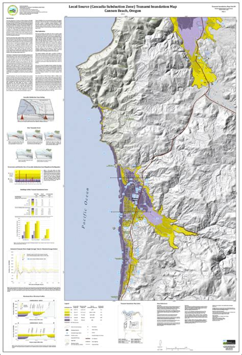 map of cannon oregon dogami tim clat 09 tsunami inundation maps for cannon