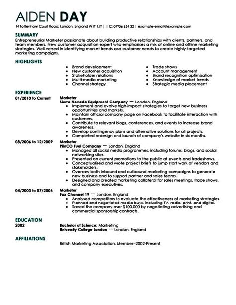 Executive Resume Format by Sle Executive Resume Format Free Sles Exles