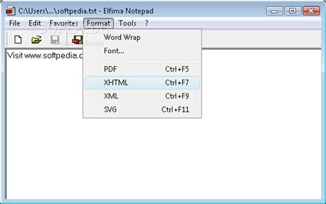 format file in notepad elfima notepad download