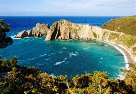 asturias costa verde michelin spanish beaches in the north and the islands