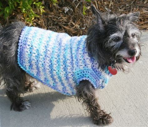 free crochet pattern for a dog coat dog sweater crochet pattern favecrafts com