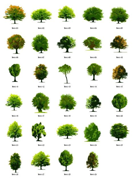trees free vector clipart landscape architecture trees and tags