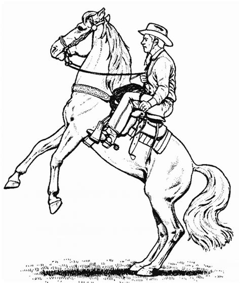 cowboy coloring pages cowboy coloring pages to and print for free