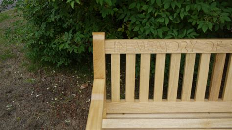 engraved memorial benches memorial bench with engraving the wooden workshop