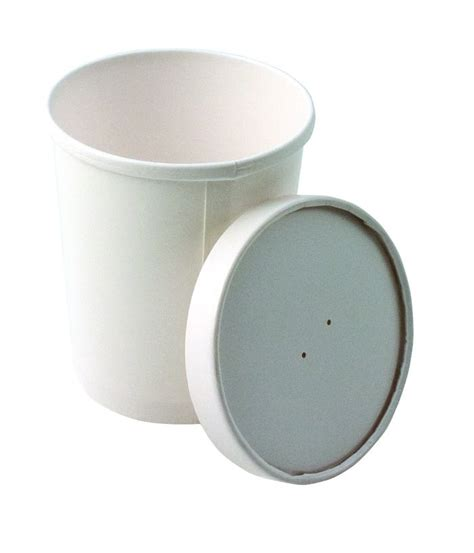 Paper Bowl 16oz 510ml 25 x 16oz 500ml heavy duty soup container lid disposable takeaways ebay