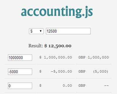 Format To Currency Javascript | currency format jquery plugins