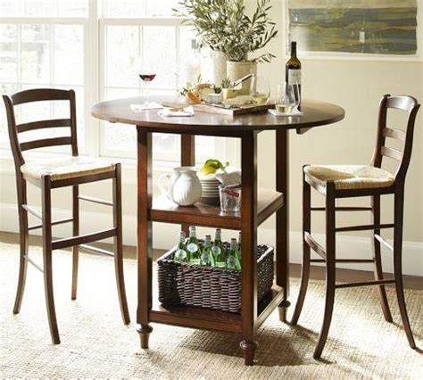 Shayne Drop Leaf Bar Height Table Pottery Barn