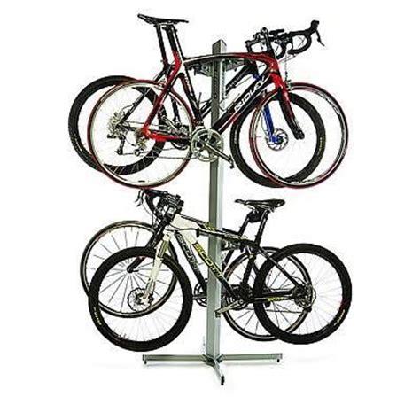 4 Bike Standing Rack by Feedback Sports Velo Cache Storage Stand 2 Bike 163 174 95
