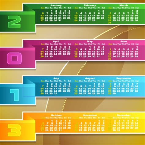 printable calendar graphic design calendar 2013 vector design download free vectors