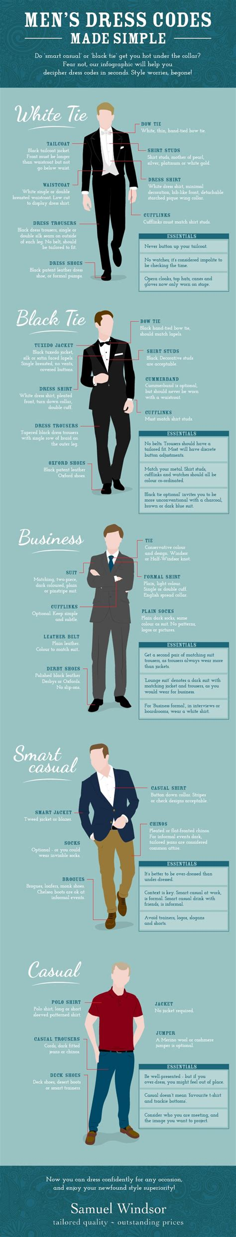 design dress code infographic a guide to dress codes for men from smart