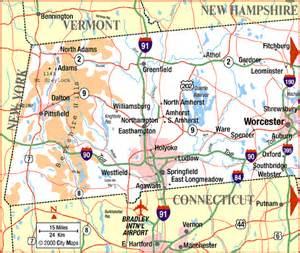 Map Of Western Massachusetts by Highway Map Of Western Massachusetts Aaccessmaps Com