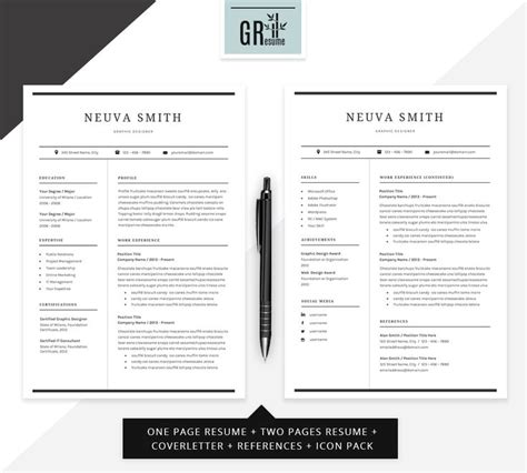 Resume Cv Template By Gresume Torrent 99 Best Graphic Web Inspiration Images On