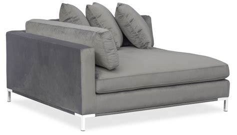 american signature chaise moda 3 piece sectional with right facing chaise gray