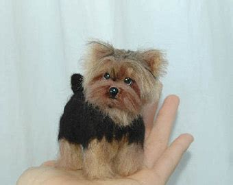 felt yorkie pattern popular items for needle felted on etsy