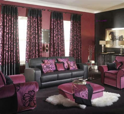 purple black living room color insides