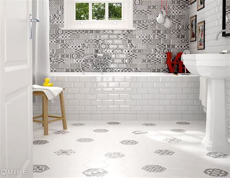 Bathroom Tile Floor Ideas hexagonal floor tiles by equipe ceramica interiorzine