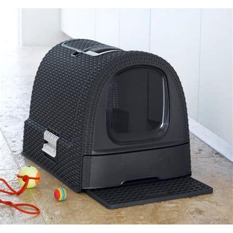 maison de toilette pour chat curver curver maison de toilettes pour chat anthracite achat