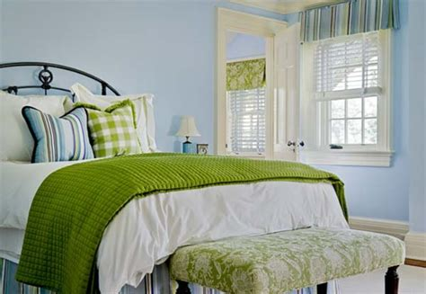 green and blue bedroom pinned from