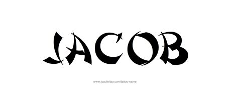 tattoo lettering for jacob jacob name tattoo designs