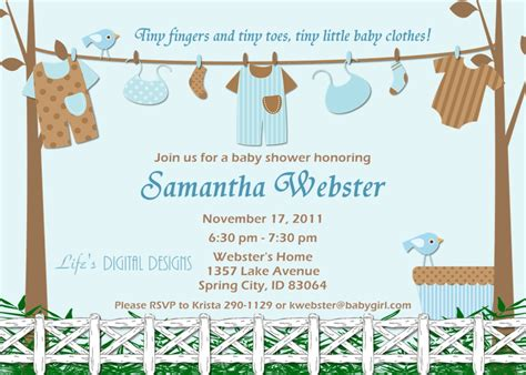 Baby Shower Templates For Boy by Free Baby Boy Shower Invitations Templates Baby Boy