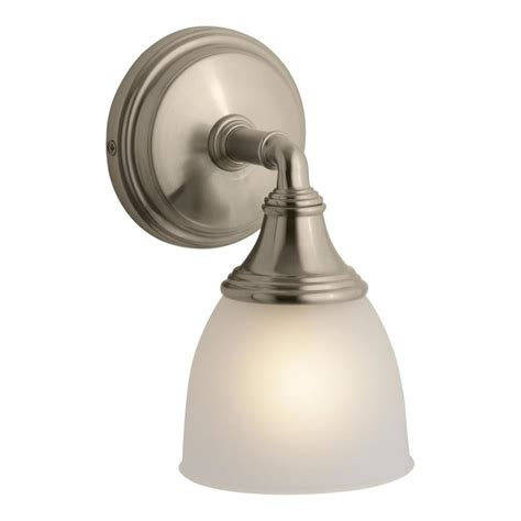Kohler Devonshire Bathroom Lighting Shop Kohler Devonshire 4 9375 In W 1 Light Vibrant Brushed Bronze Arm Wall Sconce At Lowes