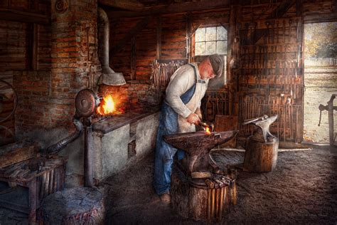 Bronze Home Decor by Blacksmith The Smith Photograph By Mike Savad