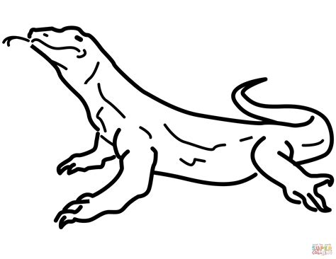 coloring pages komodo yellow spotted lizard holes coloring page www pixshark