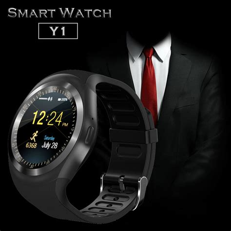 Smartwatch Y1 1 22 quot sceen y1 bluetooth smart phone mate for iphone android black ebay