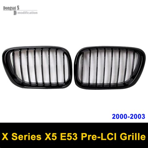 Grill Racing 2000 2001 2002 2003 e53 pre lci abs front bumper racing grille for bmw x5 e53 2000 2001 2002 2003 gloss black