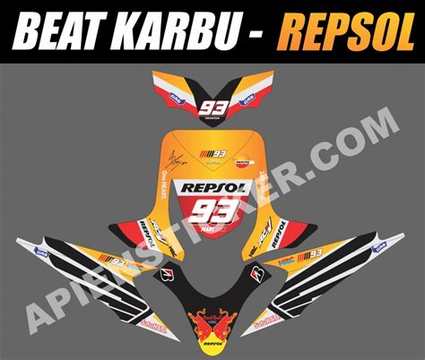 Stiker Honda Beat 2015 striping motor beat karbu repsol 2015 apien sticker
