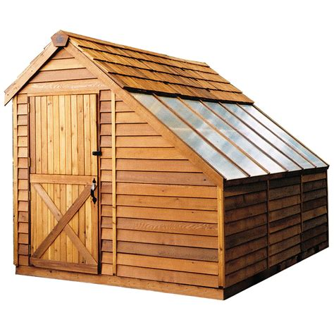 shop cedarshed sunhouse lean  cedar storage shed common