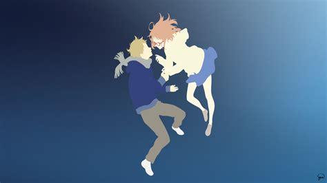 wallpaper anime minimalist kyoukai no kanata minimalist wallpaper by greenmapple17 on